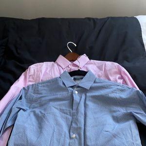 Bundle of 2 boys size small Dal Lago dress shirts